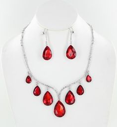 Red Necklace Set   NS-KM002 S-Red