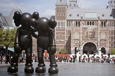 It's been 16 years since graffiti artist from New Jersey turned one of his iconic characters he's been posting around Manhattan into a 3D vinyl toy. Decade and half later Kaws is a world renown and respected fine artist and is currently showing his large sculptures as a part of Artzuid project in Amsterdam along with such names as Ai Weiwei or Frank Stella.