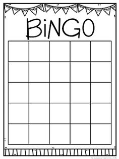Blank Bingo Card Template  Every Bingo Game Ever Imagined Has