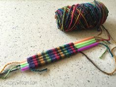 Straw weaving craft for kids I sat down this week and created an easy bracelet using the technique of straw. weaving.  This a simple craft that will keep the kids entertained...