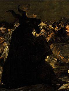 antiqueart: Francisco de Goya - Witches' Sabbath (detail)(1821-1823)