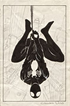 browsethestacks: Original Art - Web Of Spider-Man #008 Cover (1985) by Charles Vess