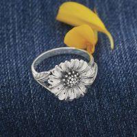 9521e0356 Sterling Silver Sunflower Ring