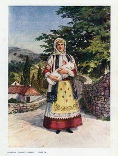 Albanian peasant woman 1909