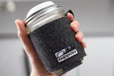 Cuppow Mason Jar Coozie made in the USA from recycled PET (Plastic #1)