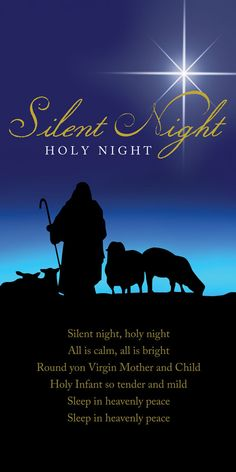 Church Banner - Christmas - Silent Night