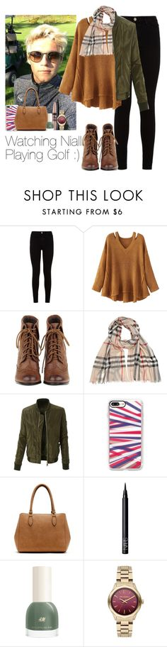 """""""Watching Niall Playing Golf :)"""" by victoria7100 ❤ liked on Polyvore featuring 7 For All Mankind, WithChic, Burberry, LE3NO, Casetify, New Directions, Maybelline, NARS Cosmetics and Karl Lagerfeld"""