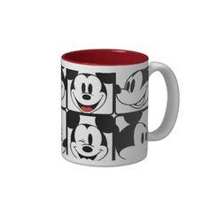Classic Mickey Face Coffee Mug