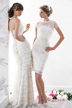 """Elegant Short Skirt Wedding Dress from Papilio """"Nymph"""" Collection - www.papilioboutique.ca"""