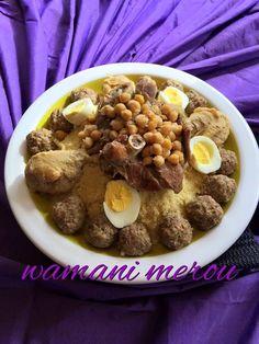 mhawer couscous aux boulettes de viande hachée