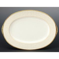 Noritake White Palace Oval Platter, 14-inches