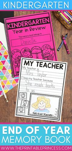 Can you believe the school year is coming to a close?! Memory books are a perfect way to gather student opinions and experiences throughout the year. Plus it serves as a sweet memento for students to look back on. This memory book was designed specifically for Pre-Kindergarten through first grade students. With several options and differentiated levels included in this resource, you pick the topics and levels that work best for your students. Kindergarten Math Activities, Word Work Activities, Social Studies Activities, Counting Activities, Letter Activities, Kindergarten Teachers, Preschool Classroom, Summer Activities, Classroom Ideas