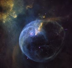 Hubble Captures Breathtaking Portrait Of Blue Bubble In Space  Named the Bubble Nebula, also known as NGC 7635