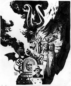 Wake The Devil - Mike Mignola Comic Book Artists, Comic Books Art, Mike Mignola Art, Comic Art Community, Comic Kunst, Bd Comics, American Comics, Dark Horse, Illustrators