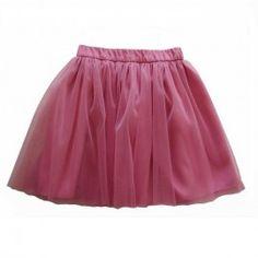 Fustă creață din tul roz Veil, Girl Outfits, Tulle, Velvet, Satin, Elegant, Skirts, Cotton, Clothes