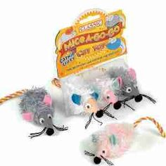 Classic Wide Eyed Shaggy Mice | Pet-Supermarket.co.uk