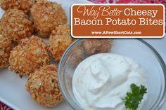 Way better cheesy bacon potato bites