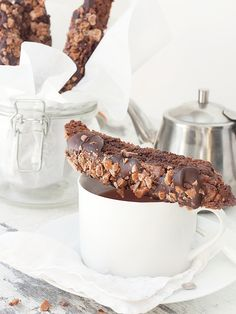 Double Chocolate Toffee Biscotti | Seasons and Suppers