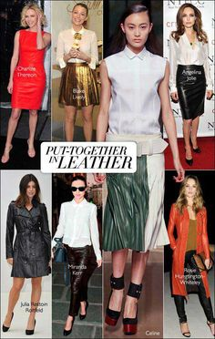 Tough girl staple turns sophisticated. #harpersbazaar #fashion #trends #leather #blakelively