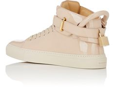 Buscemi 100MM New Button Patent Leather Sneakers | Barneys New York