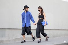 J'aime tout chez toi - Black & blue - French fashion couple
