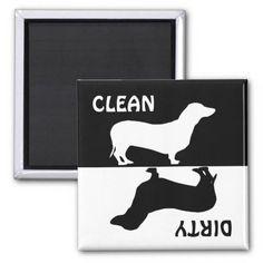 Dirty Clean Dachshund dog dishwasher magnet #dog #dogs #doglover #doggifts