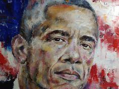 Barack Obama Painting Oil Portrait Custom Portrait Canvas
