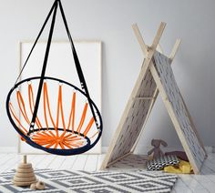 Houpací síť oranžová pro děti Hanging Chair, Furniture, Home Decor, Homemade Home Decor, Hammock Chair, Hanging Chair Stand, Home Furnishings, Decoration Home, Arredamento