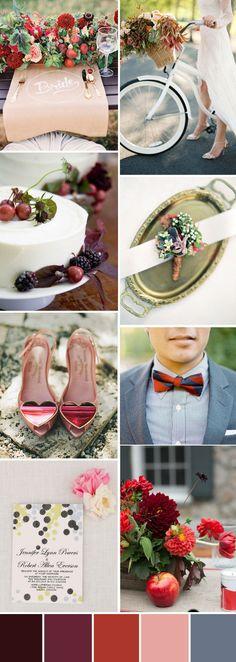 TOP 10 Wedding Color Palettes For 2016 Autumn–Part One