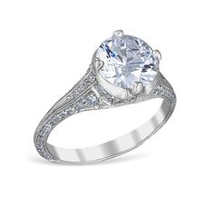 88901: Pave' Especial Engagement Ring Mounting