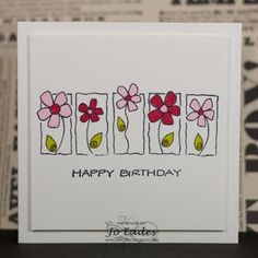 Jo Eades: JAI # 135 Just add the color combination . - Jo Eades: JAI # 135 Just add the color combination Chec - Paint Cards, Happy Paintings, Watercolor Cards, Watercolor Flowers, Watercolour, Colorful Drawings, Flower Cards, Gift Flowers, Diy Cards
