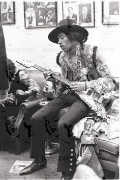 COOL RARE - Jimi Hendrix Playing His Gibson Flying V - 60s Photo Picture Poster on Etsy, $14.11
