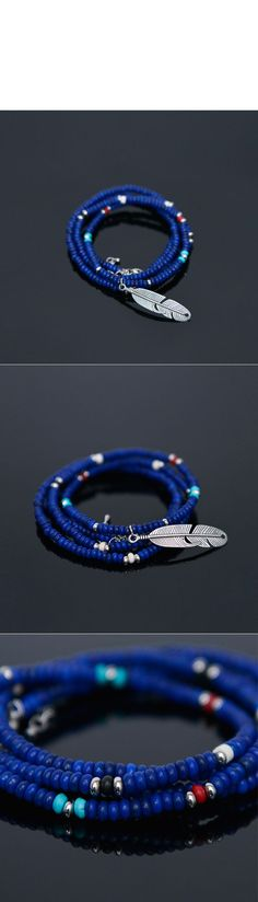 2-way 4 Coils Cuff & Feather Necklace-Necklace 282 - GUYLOOK