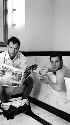 Jude Law and Ewan McGregor.  Yeah yeah yeah…not so sexy but I LOVE this picture, it's hilarious.