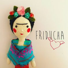 Frida Kahlo de crochet #frida