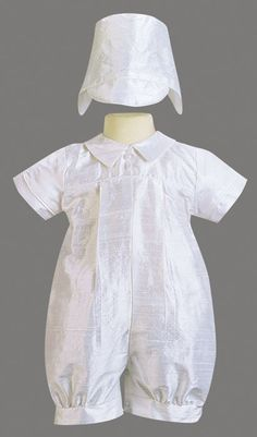 55f0a9925 Boy Christening Outfits | Conner Christening Romper & Hat - Maylee's  Boutique Boy Christening Outfit