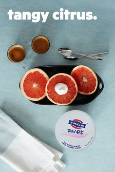 Tangy grapefruit with a dollop of delicious — the kind of enjoyment you have to sit down for.