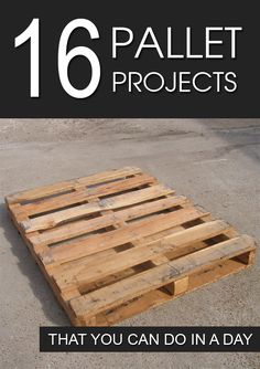 Fun and unique pallet projects that you can easily do at home.