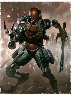 The art of Warhammer 40.000 40K adeptus mechanicus Skitarii Cult Mechanicus Mars