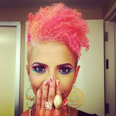 Sick. I wish I would look that cool with my hair like this!