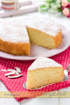 Torta al cocco sofficissima Sweet Recipes, Cake Recipes, Snack Recipes, Dessert Recipes, Cooking Recipes, Italy Food, Cakes And More, Easy Desserts, Food To Make