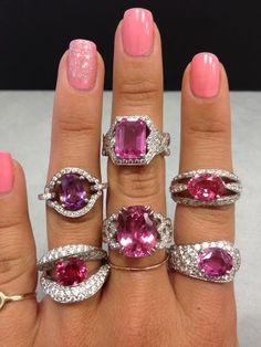 @}-,-;-- Pink rings and nails!