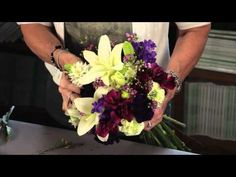 Diana Ryan - How To Create A Hand-Tied Mixed Flower Bouquet - YouTube