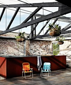 Industrial warehouse conversion outdoor pool