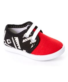 Loving this Milly & Max Red Geometric Sneaker on #zulily! #zulilyfinds