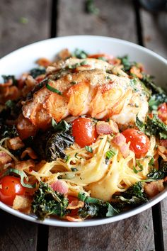 Brown Butter Lobster, Bacon and Crispy Kale and Fontina Pasta, NOW!