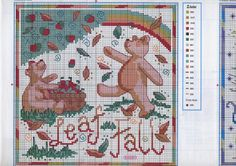 Point de croix : ❤️*❤️ cross stitch.. Fall