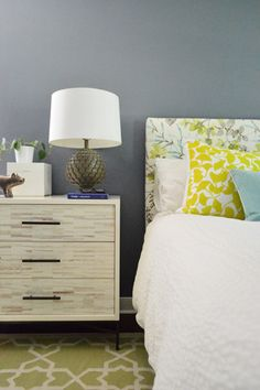 Paint, Paint, And More Paint | Young House Love---master bedroom.  Wall color: Black Pepper - Benjamin Moore.