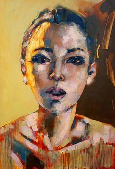 "Saatchi Art Artist thomas donaldson; Painting, ""7-29-15 head study"" #art"