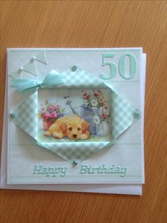 Hunkydory card stock was used for this card